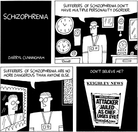 Schizophrenia cartoon