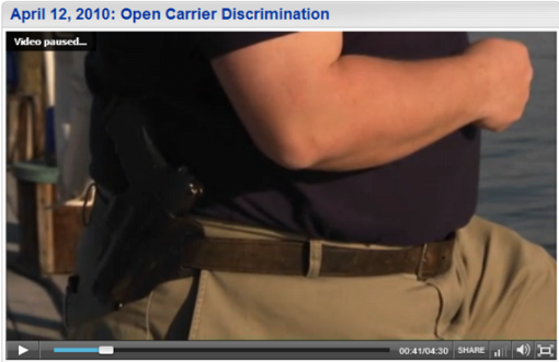 Open carriers face social stigma