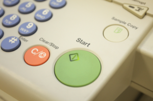 Big green copier button