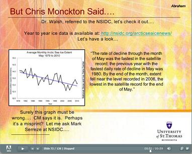 Sample slide from Abraham presentation